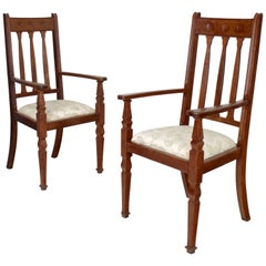 Pair of Arts & Crafts Armchairs by Shapland & Petter