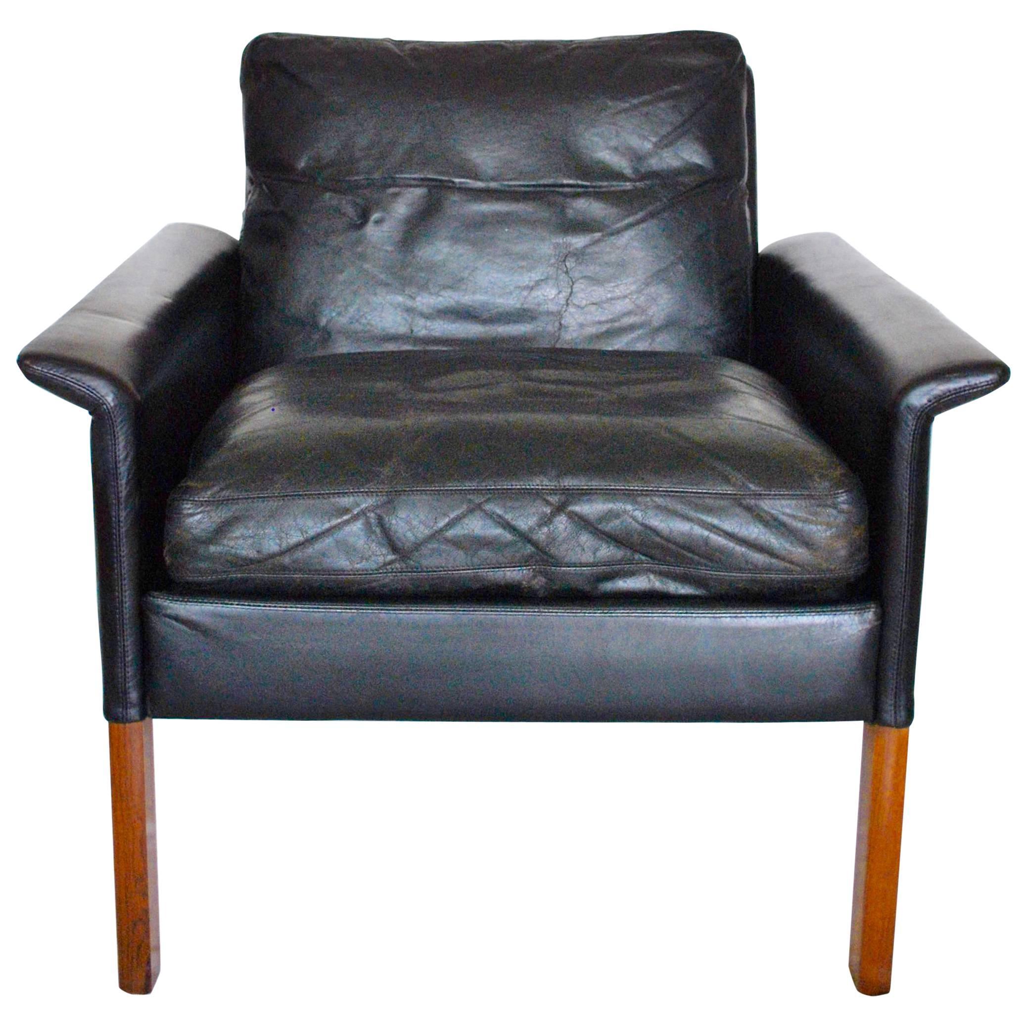 leather lounge chair by hans olsen cs mbler denmark