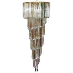 Cascading Crystal Prism Chandelier