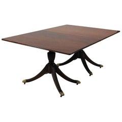 Federal Style Mahogany Virginia Craftsmen Repro Dbl Pedestal Dining Table