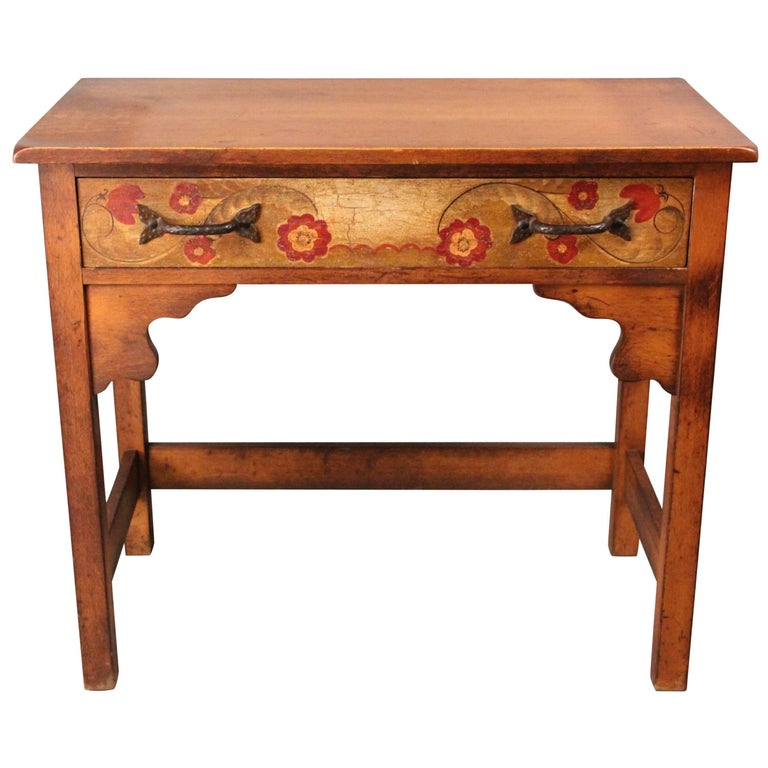 attractive hand painted rancho monterey side table for sale at 1stdibs. Black Bedroom Furniture Sets. Home Design Ideas