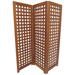 Danish Modern Teak Three-Panel Room Divider Screen, circa 1970s