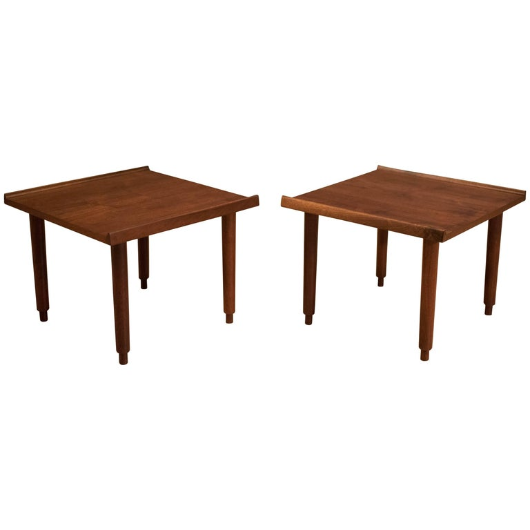 Mid Century Walnut Side Tables by Charles Pechanec