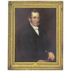 19th Century Oil Portrait of President John Tyler as a Congressman
