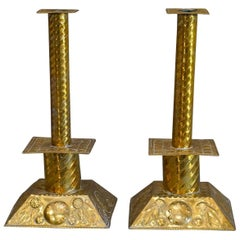 Pair of Swedish Brass Candlesticks