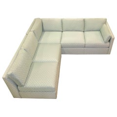 Milo Baughman Style Two-Piece Sectional Sofa L-Shaped