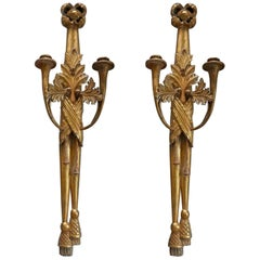Pair of Swedish Empire Candle Sconces