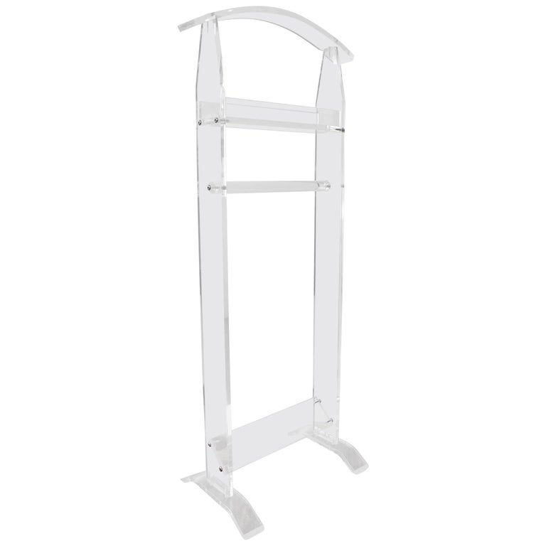 Modern 1970s Acrylic Lucite Valet Stand 1