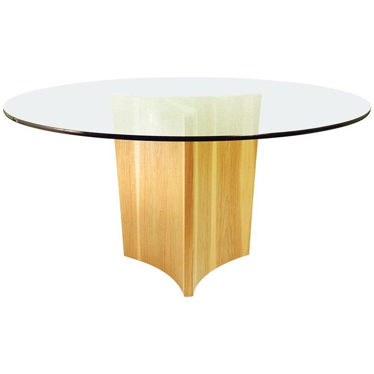 Viceroy Tapered Wood Pedestal Table Base 1