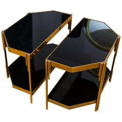 Pair of Occasional Tables by Luciano Frigerio, Model Achille, Italy, 1970s