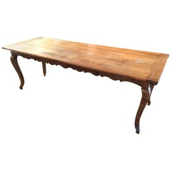 Wonderful Long Italian Farm Table with Scalloped Apron