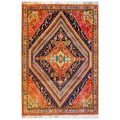 Brilliant Mid-20th Century Shiraz Rug