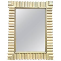 Monumental 1980s John Hutton for Donghia Pickled Oak Mirror