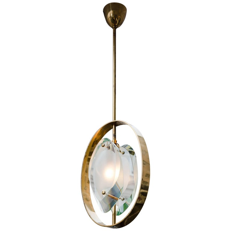 Pendant Ceiling Lamp by Max Ingrand, Model 1933, Prod. Fontana Arte 1961 1