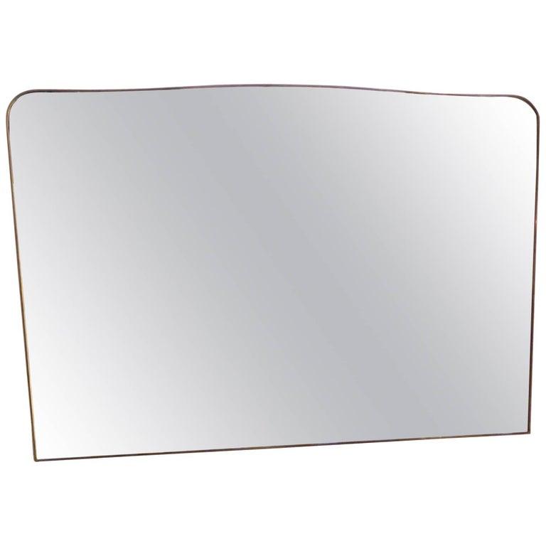 Monumental Italian Brass Mirror 1