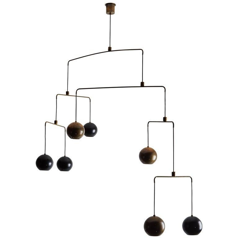 rewire custom mobile chandelier at 1stdibs