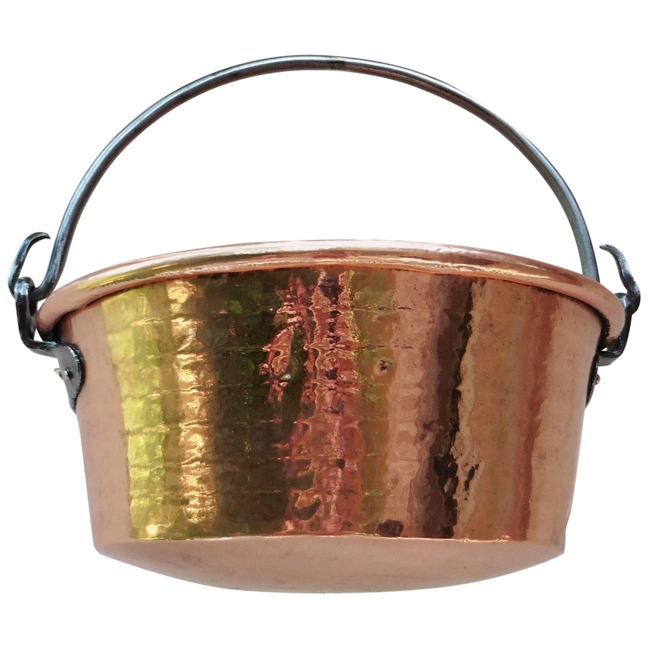 Early 19th Century French Copper Cauldron