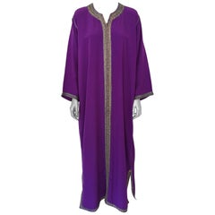 Moroccan Purple Kaftan Maxi Dress Caftan Size Large to Extra Large