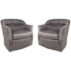 Pair of Swivel Lounge Chairs after Ward Bennett