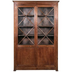 19th Century French Louis Philippe Period Cherrywood Bibliotheque or Bookcase