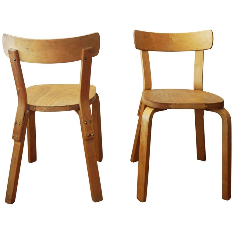 Pair Of Alvar Aalto Chairs 69 At 1stdibs