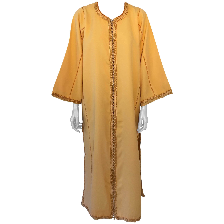 Moroccan Vintage Yellow Gold Caftan