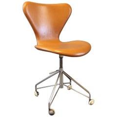 """Seven"" Office Chair, Model 3117 by Arne Jacobsen and Fritz Hansen, 1950s"