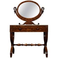 19th Century French Empire Mahogany Dressing Table