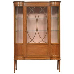 Edwardian Satinwood Inlaid Display Cabinet