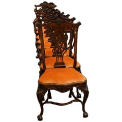 Set of Eight Antique Portugese Dining Chairs