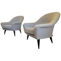 Pair of Vintage Charles Ramos Armchairs