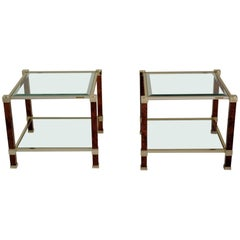 Pair of Sofa Tables, Signed Pierre Vandel, Paris, 1980