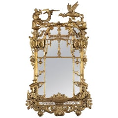 Irish 19th Century Giltwood Mirror in the Rococo Manner