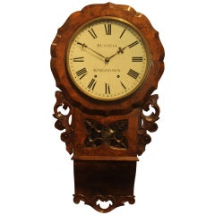 19th Century Walnut Wall Clock