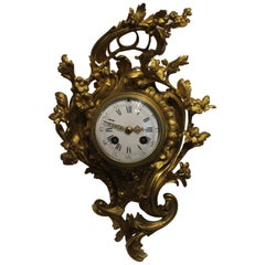 19th Century French Ormolu Cartel Clock