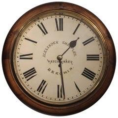 19th Century German Walnut Wall Clock