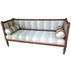 Marvelous Very Long Swedish Carved Wood Gustavian Sofa