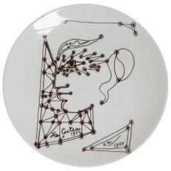 Jean Cocteau Limoges Edition D'art Plate Dated 1950