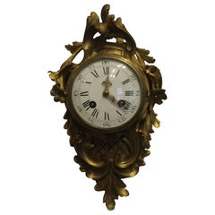 19th Century, French Ormolu Cartel Clock