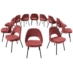 12 Reupholstered Chairs by Eero Saarinen for Knoll International