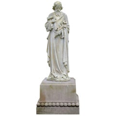 Carved Stone Statue of Saint Joseph