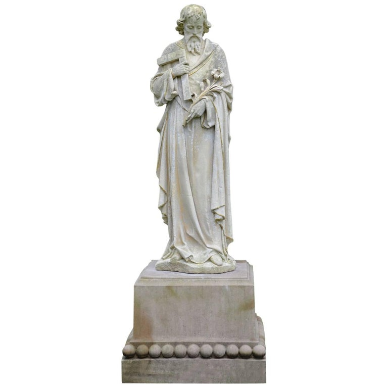 Carved Stone Statue of Saint Joseph 1