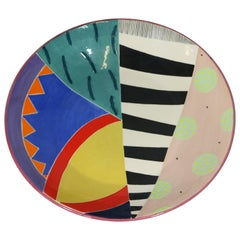 """Einzigartige Keramikschüssel im postmodernen Design, signiert mit """"Eslick"""", 1988"""