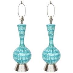 Italian Drip Glazed Ceramic Lamps