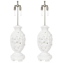 Italian Hand-Carved Marble Lamps