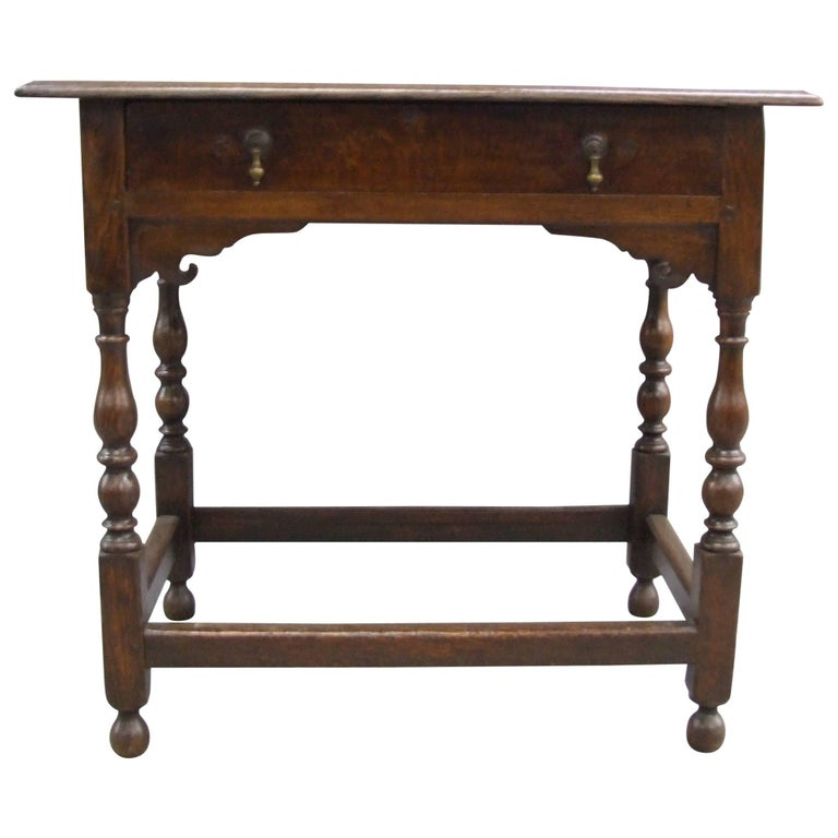 Early 18th Century English Oak Side Table