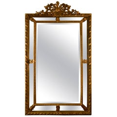 Antique French Panelled Mirror