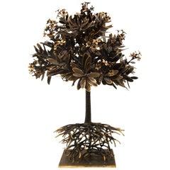 Unique Cast Bronze Plumeria Tree