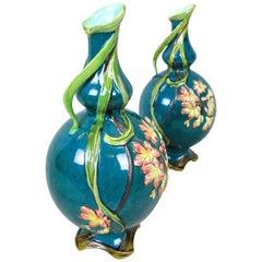 Outstanding Pair of Art Nouveau Vases, France, circa 1910