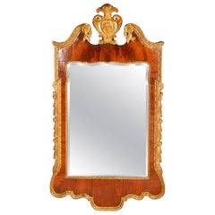 George II Style Walnut and Gilt Pier Glass Mirror